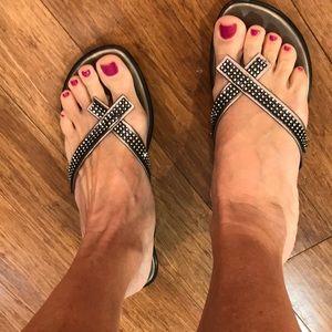 Athena Alexander sandals size 8 metallic